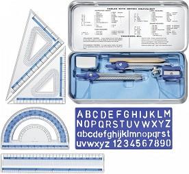 Комплект за чертане - Math Set - Комплект от 10 части -