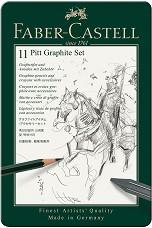 Графичен комплект - Pitt Graphite Set - Комплект от 11 части в метална кутия -