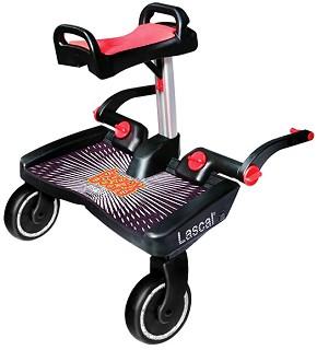 Универсален слайдър за второ дете - BuggyBoard Maxi - Аксесоар за детска количка в комплект със седалка -