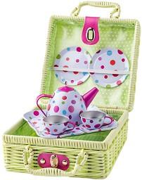 Чаен сервиз за пикник - Комплект в куфарче -