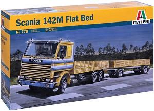 Камион - Scania 142M Flat Bed - Сглобяем модел -