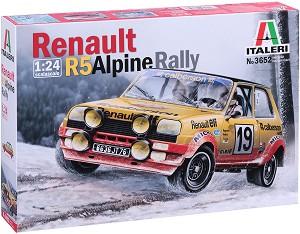 Състезателен автомобил - Renault R5 Alpine Rally - Сглобяем модел -
