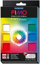 Полимерна глина - True Colours - Комплект от 6 цвята -
