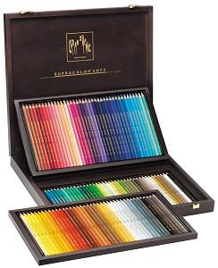 """Цветни акварелни моливи в дървена кутия - Supracolor - Комплект от 120 цвята от серията """"Artist"""" -"""