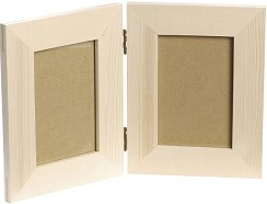 Дървена рамка за 2 снимки - Предмет за декориране -