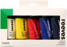 Акрилна боя - Комплект от 5 или 10 цвята х 75 ml -