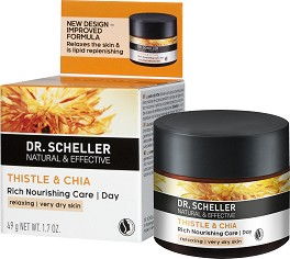 Dr. Scheller Thistle & Chia Rich Nourishing Day Care - Дневен крем за лице за много суха кожа с магарешки трън и чиа -