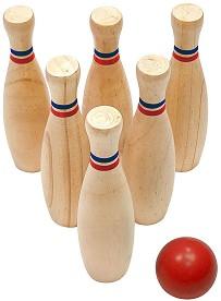Комплект за боулинг - Детска дървена играчка -