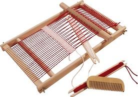 Детски дървен тъкачен стан - Творчески комплект -