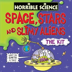 """Космос, звезди и слузести извънземни - Образователен комплект от серията """"Страховитото в науката"""" -"""