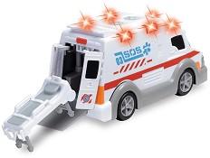 Линейка с отваряща се врата и носилка - Детска играчка със звуков и светлинен ефект -