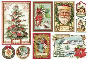 Декупажна хартия - Коледа - Размер 35 х 50 cm -