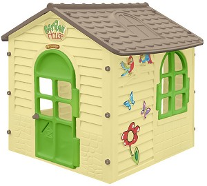 Детска сглобяема къща за игра - Garden House - Размери 122 / 120.5 / 120 cm -