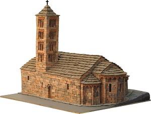 Църква St. Maria de Taull - Сглобяем модел от истински тухлички -