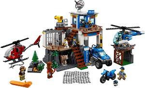 """Полицейски участък в планината - Детски конструктор от серията """"LEGO City"""" -"""