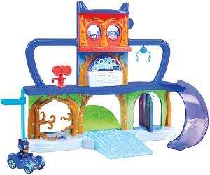 """Централен щаб - Пи Джей Маскс - Комплект с количка и фигура за игра от серията """"PJ Masks"""" -"""