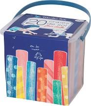 Цветни тебешири в кутия - Комплект от 20 цвята -