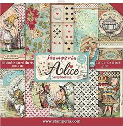 Хартии за скрапбукинг - Алиса - Комплект от 10 броя -