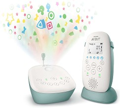 Дигитален бебефон - SCD731/52 - С температурен датчик, 5 мелодии, нощна светлина, проектор и възможност за обратна връзка -