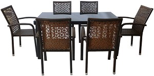 Комплект градински мебели - 59-2-341-2 - Имитация на ратан -