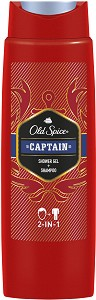 "Old Spice Captain Shower Gel + Shampoo 2 in 1 - Душ гел и шампоан за мъже 2 в 1 от серията ""Captain"" -"