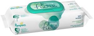 Pampers Aqua Pure - Бебешки мокри кърпички без аромат в опаковкa от 48 броя -