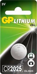 Бутонна батерия CR2025 - Литиева 3V - 1 брой -