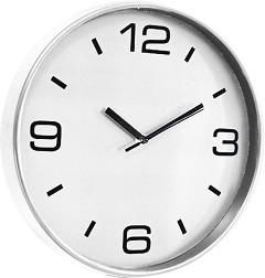 Стенен часовник Claps - Crossandra White -