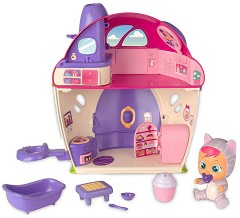 Cry Babies: Magic tears -  Вълшебната къщичката на Кейти - Плачеща мини кукла бебе с аксесоари -