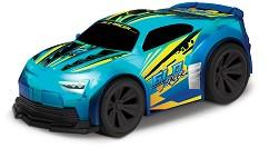 Количка с променящ се цвят - GLO Racer - Играчка с дистанционно управление, звукови и светлини ефекти -