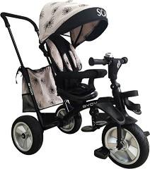 Scar - Детска сгъваема триколка с дръжка за бутане -