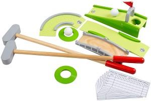 Щур мини голф - Детски дървен комплект за игра -