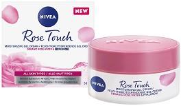 Nivea Rose Touch Moisturising Gel Cream - Хидратиращ гел крем с розова вода и хиалурон -