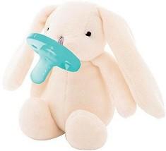 Плюшен държач със залъгалка 2 в 1 - Sleep Buddy: Bunny - За бебета от 0+ месеца -