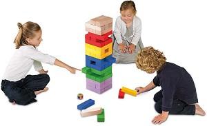 Цветна дженга гигант - Дървена игра с височина на кулата 60 cm -