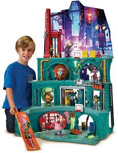 """Тайното убежище на Костенурките Нинджа - Детски комплект за игра от серията """"Костенурките Нинджа"""" -"""