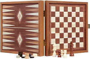 Шах и табла - Луксозен комплект -