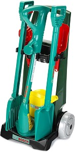 """Градинска количка с аксесоари - Детски комплект за игра от серията """"Bosch-mini"""" -"""