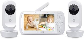 Дигитален видео бебефон - Ease 35 Twin - С 2 камери, температурен датчик, мелодии, нощно виждане и възможност за обратна връзка -