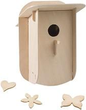 Къщичка за птици - Дървен 3D пъзел -