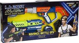Лазерна стрелба - Комплект детски играчки със светлинни и звукови ефекти -