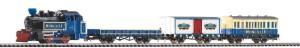 """Влак с парен локомотив и три вагона - Circus """"Roncalli"""" - Стартов комплект с релси и дистанционно управление -"""