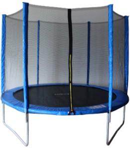 Батут с външна мрежа - Jump - С диаметър ∅ 244 cm и в комплект с дъждобран и стълба -