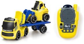 Камион с булдозер - Комплект за игра с дистанционно управление -