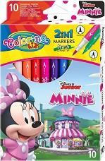 Двувърхи флумастери - Мини Маус - Комплект от 10 цвята -