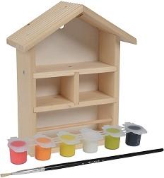 Направи сам - Дървена къщичка за пчелички - Творчески комплект за игра -
