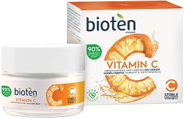 Bioten Vitamin C Brightening & Anti-Ageing Day Cream - Дневен крем против стареене с витамин C -