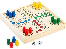 Не се сърди човече - Детска дървена състезателна игра -