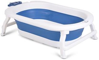 Сгъваема бебешка вана за къпане с изход за оттичане - Siren - С дължина 86 cm -