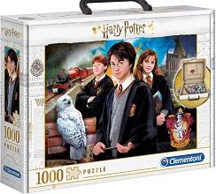 Хари Потър - Пъзел в куфарче в комплект с карта -